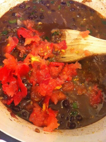 [Leaf Parade. Quick and simple black bean soup {vegan, gluten-free}.]