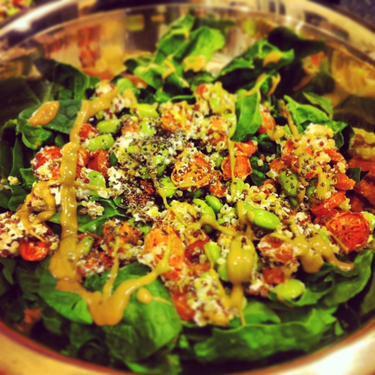 [Leaf Parade. Roasted carrot junk salad.]