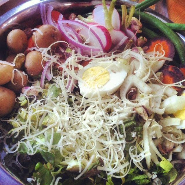 "[Spring is here! Celebration ""Junk Salad"" with fennel-lemon vinaigrette {gluten-free, vegetarian}.]"
