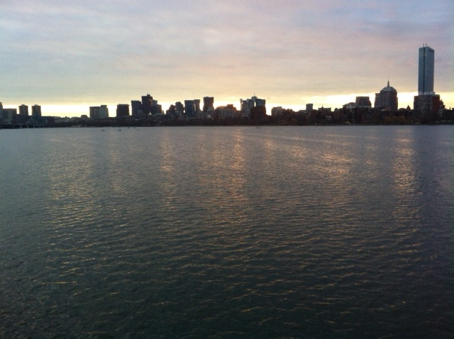 This morning's view from the Mass Ave bridge.